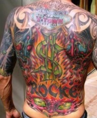 vegas back tattoo